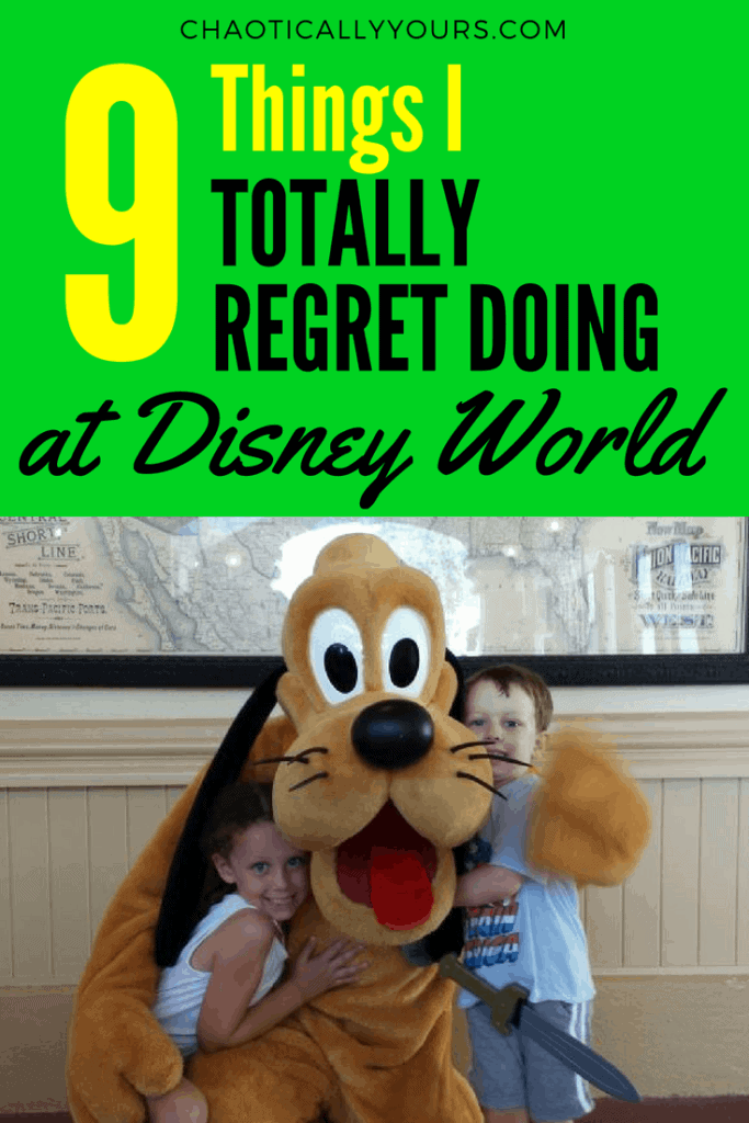 Nine Things I Regret Doing At Walt Disney World