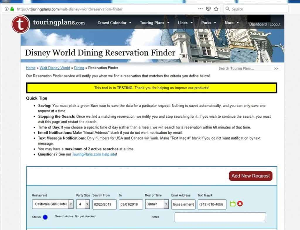 Find Disney Dining reservations, even when they're all booked up!