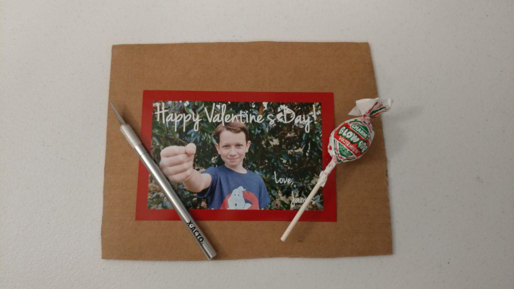 Supplies for DIY Valentines Card