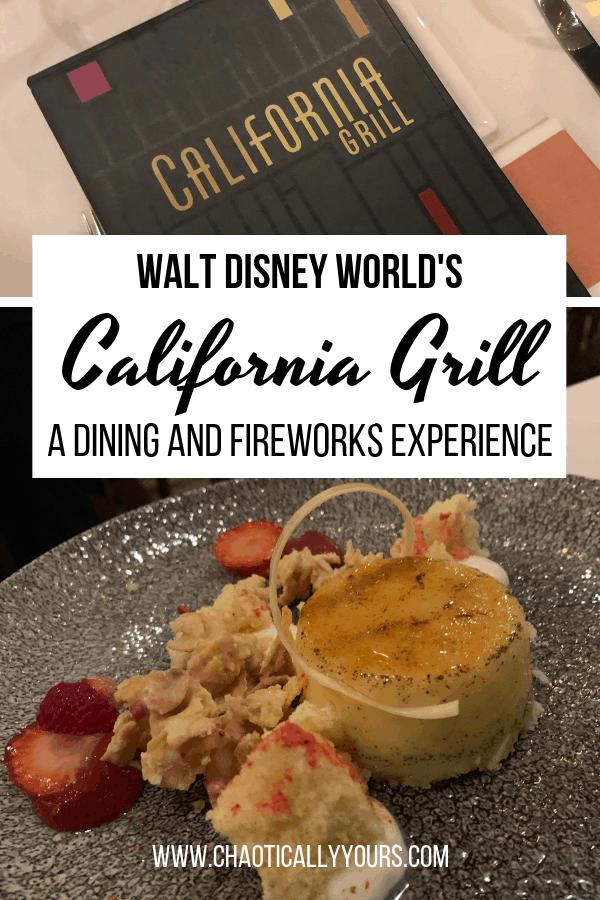 California Grill at Contemporary Resort in Walt Disney World