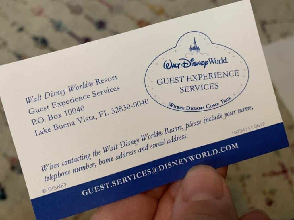 Thank a Disney Cast Member by contacting Guest Experience Services