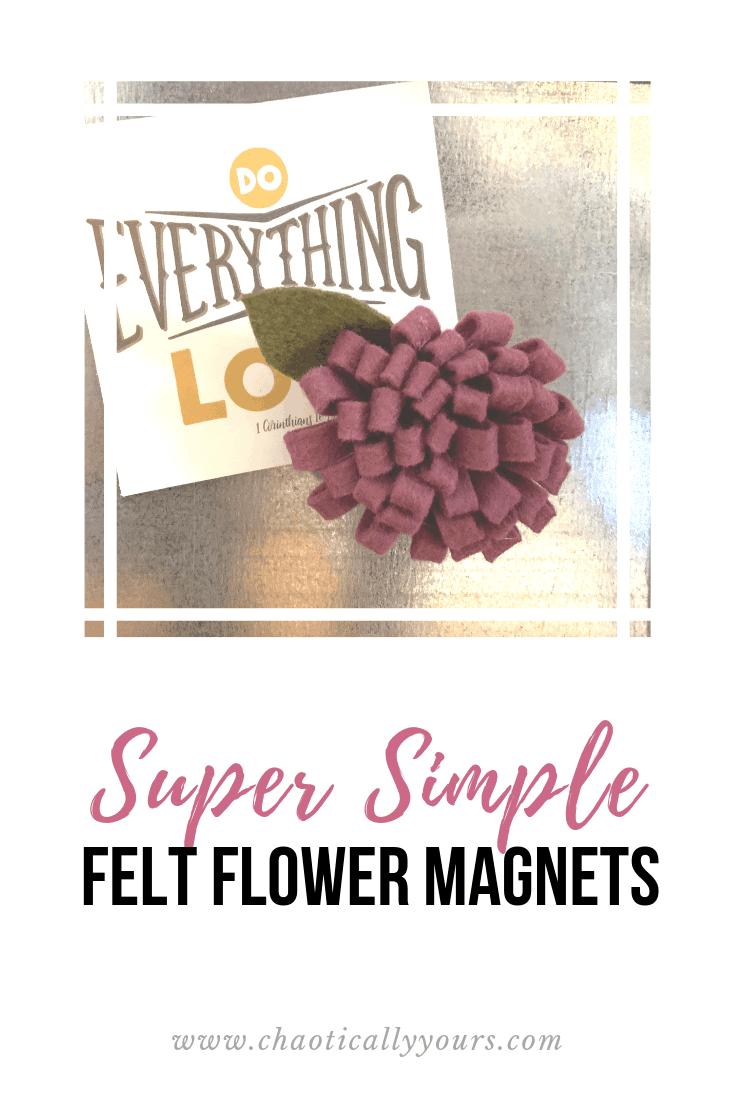 Super Easy Felt Flower Tutorial