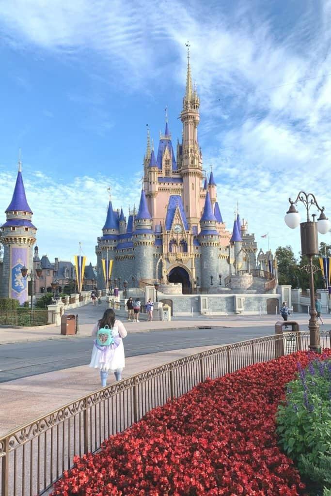 Cinderella Castle on a sunny day at the Magic Kingdom in Walt Disney World
