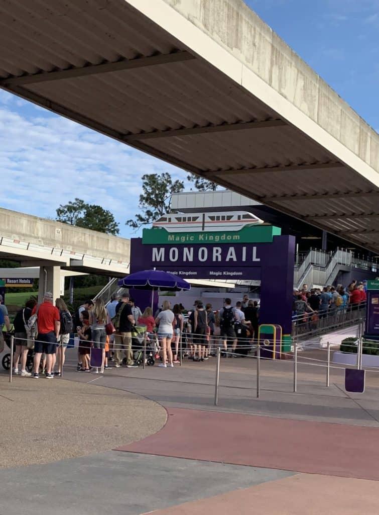 Monorail to Walt Disney World's Magic Kingdom