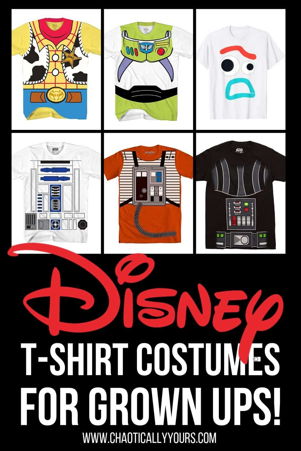 Disney T-shirt costumes for adults!