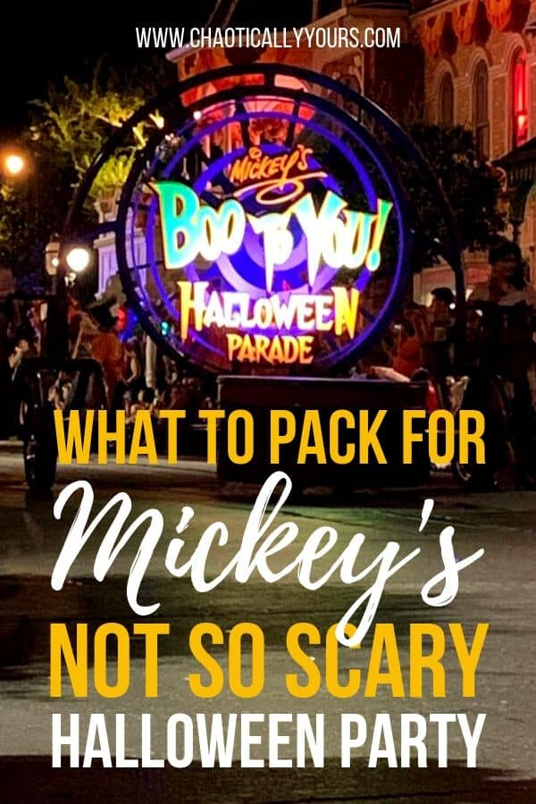 What You Should Pack For Mickey's Not So Scary Halloween Party