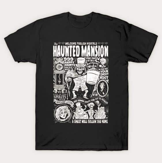 Haunted Mansion Hatbox Ghost t-shirt