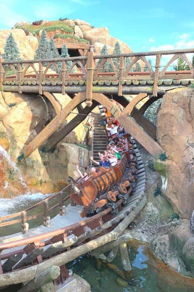 Picture of Magic Kingdom Fastpass users on the Seven Dwarfs Mine Train at Walt Disney World's Magic Kingdom