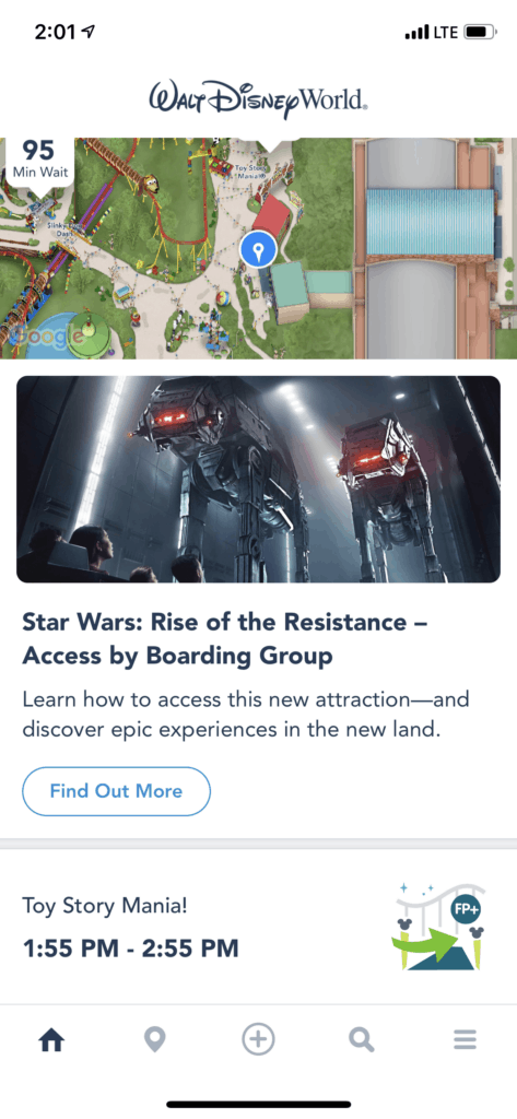 Screenshot from the Rise Of The Resistance Boarding Group Process