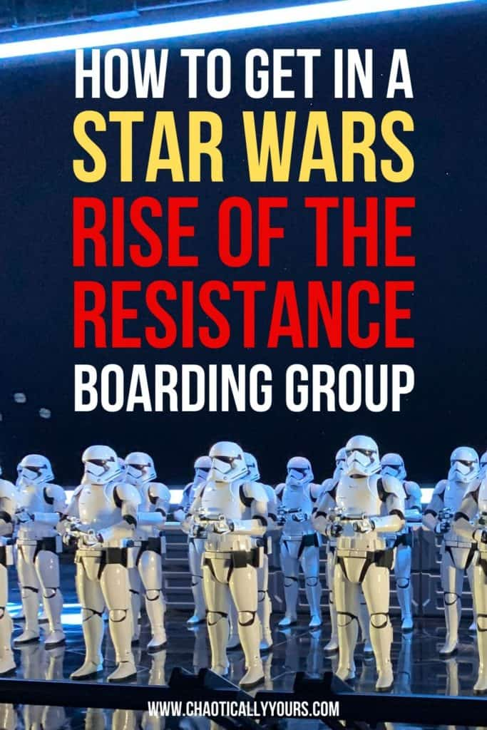 How to Get Into A Star Wars Rise Of The Resistance Boarding Group Graphic