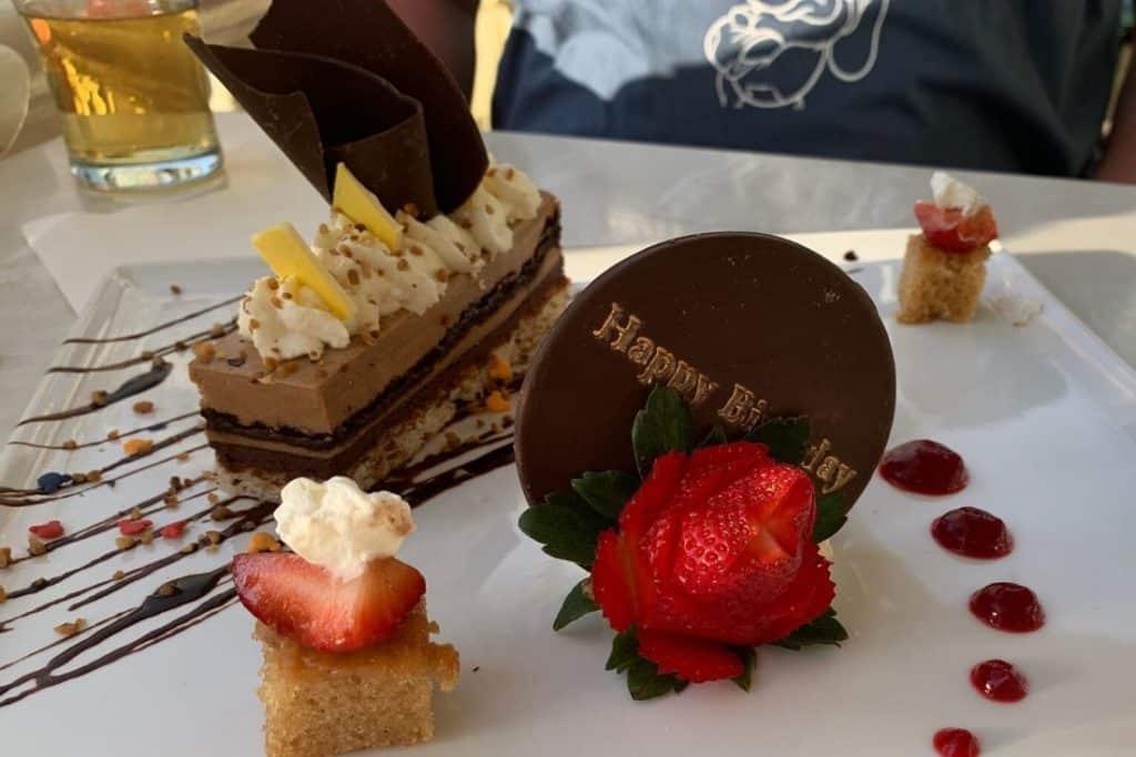 Dessert at Tonys Town Square Restaurant in the Magic Kingdom