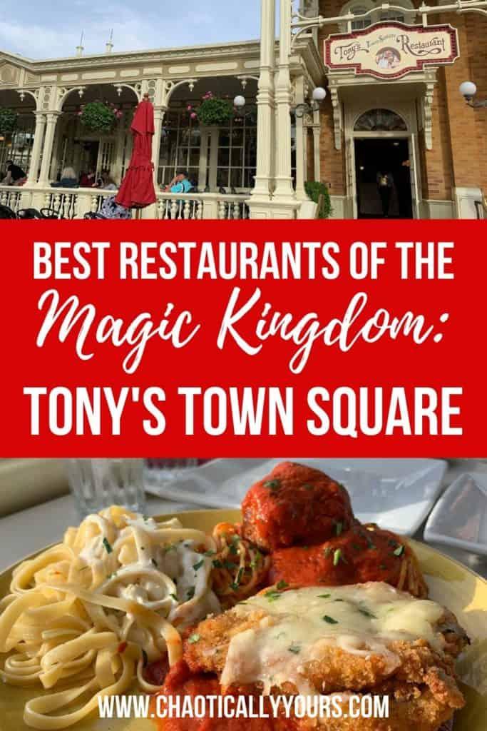 Tony's Town Square Restaurant Pinterest Image