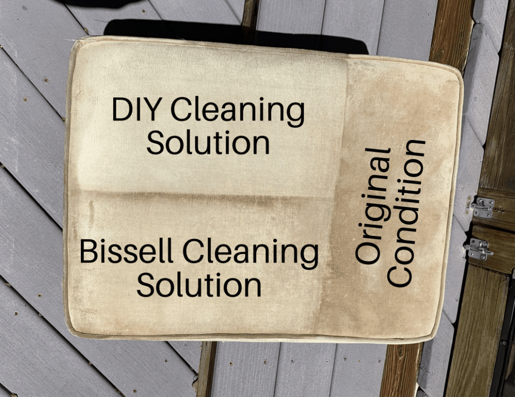 DIY Upholstery Cleaner results of both formulas