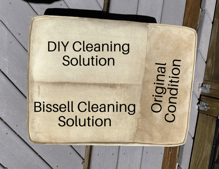 DIY Upholstery Cleaner: A before and after picture
