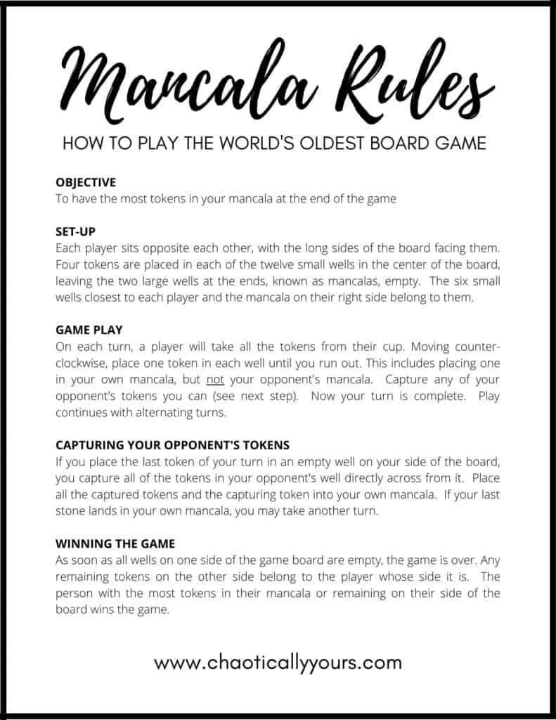 picture of mancala rules document