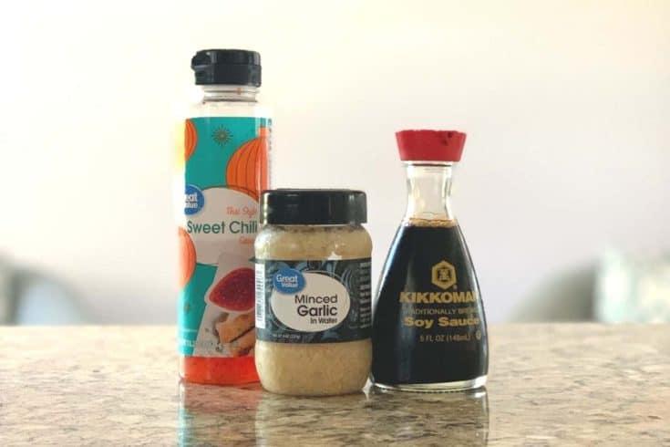Supplies for 3 ingredient stir fry sauce