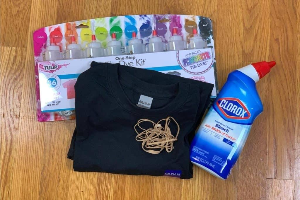 bleach tie dye supplies