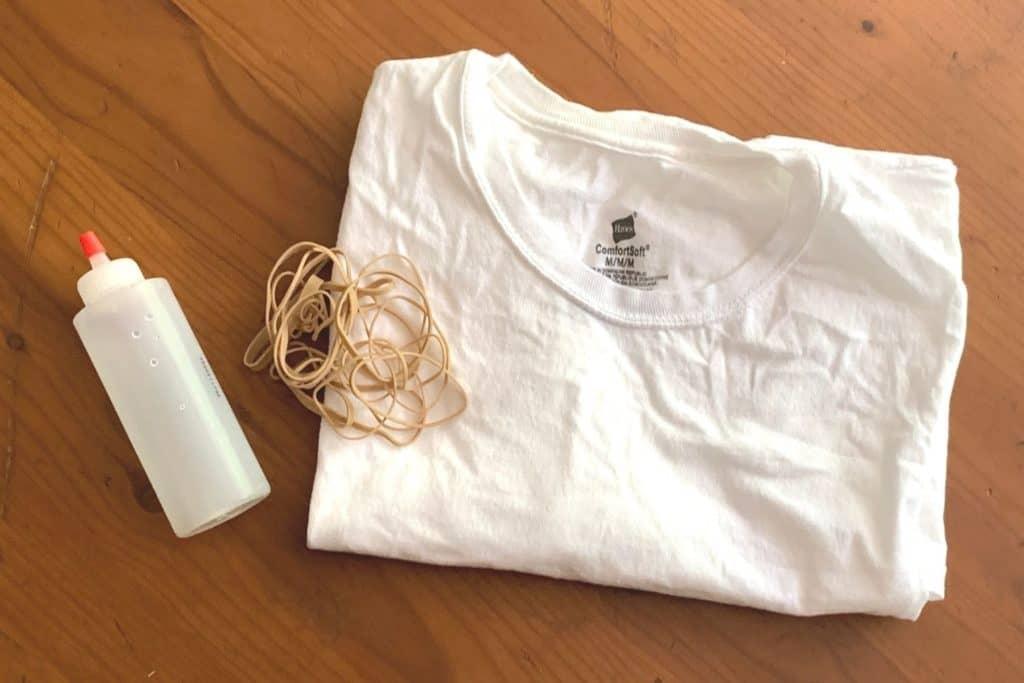 Crumple Tie Dye Supplies