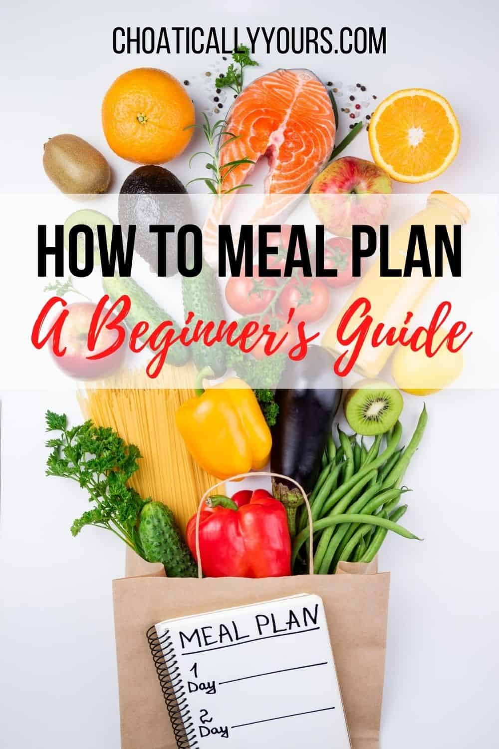 How To Meal Plan Pin Image