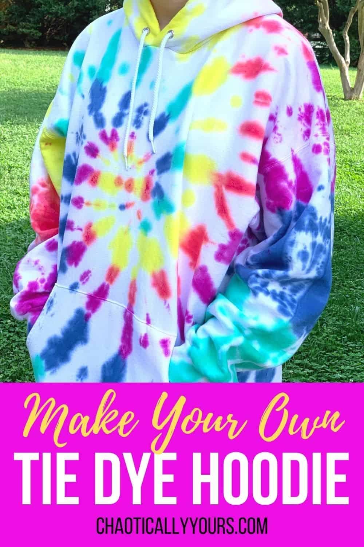 tie dye hoodie pin image