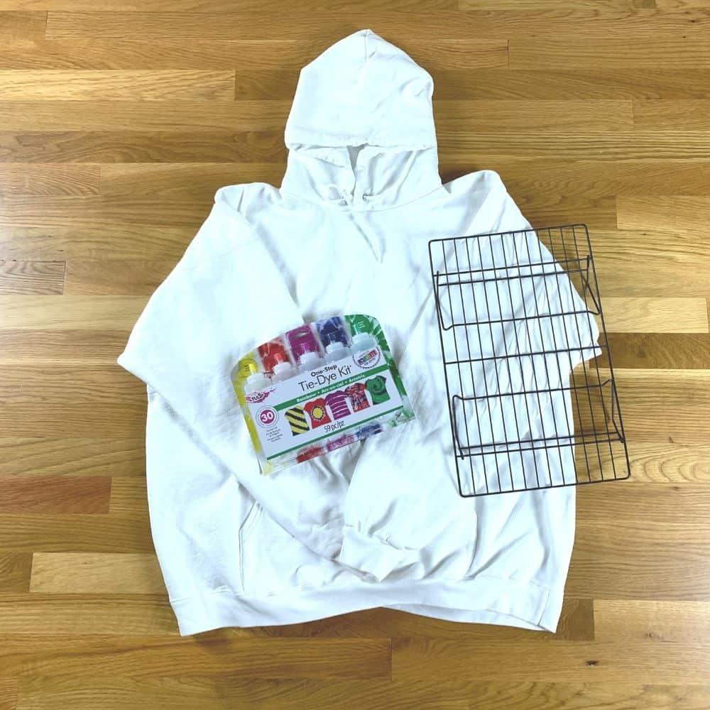 tie dye hoodie supplies