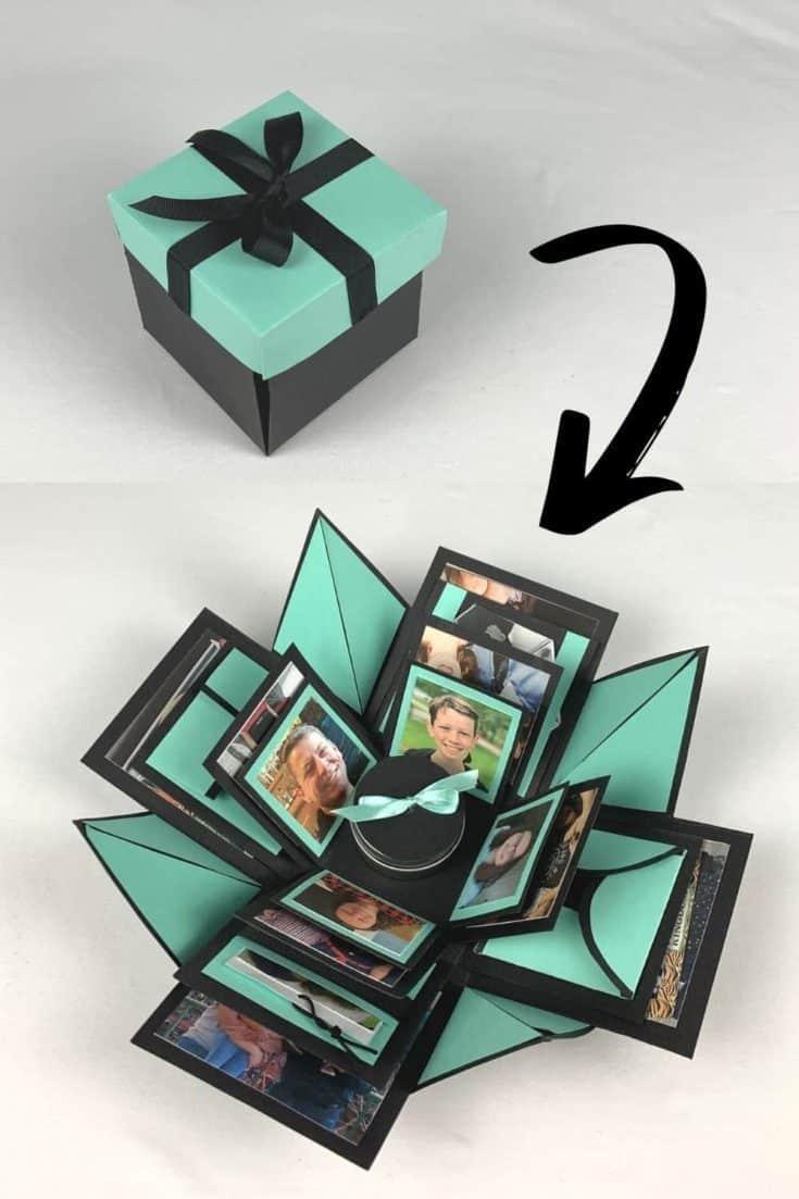 Art Magnet Mini Paper Flower Book Art Wedding Gift Tin Box Paper Art Paper Art Anniversary Gift Gift for Mom Unique Gift