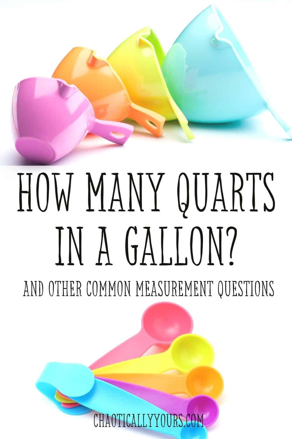 how many quarts in a gallon pin image