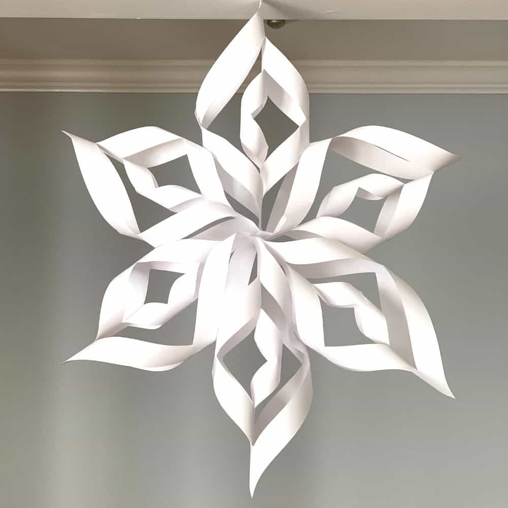 3d snowflake finished product
