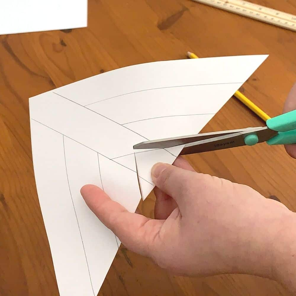 Cutting the square from the 3d snowflake