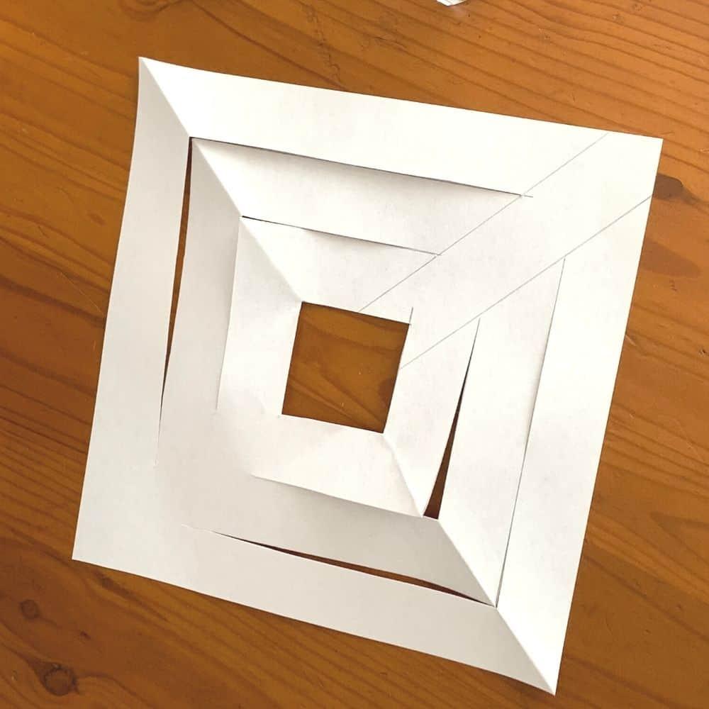 cut paper for 3d paper snowflake