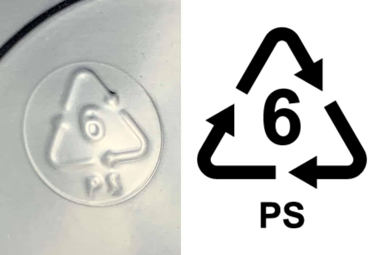 #6 plastic symbol for DIY Shrinky Dinks