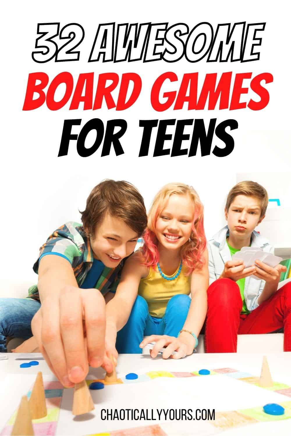 best board games for teens pin image
