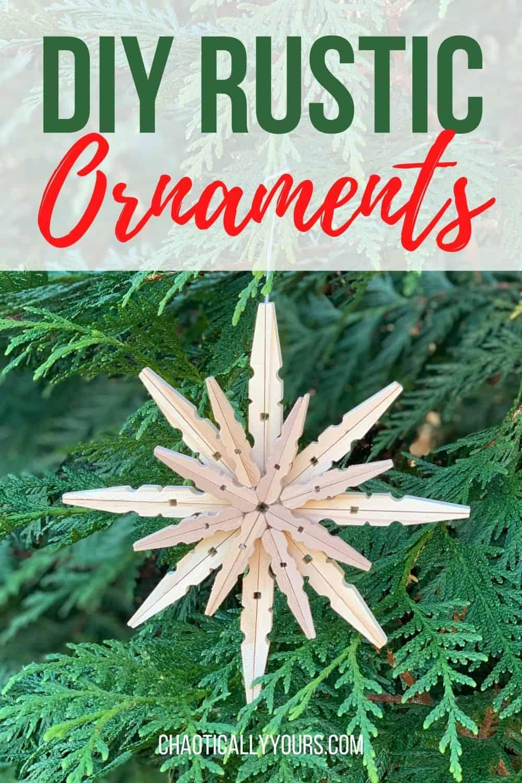 rustic ornaments pin image