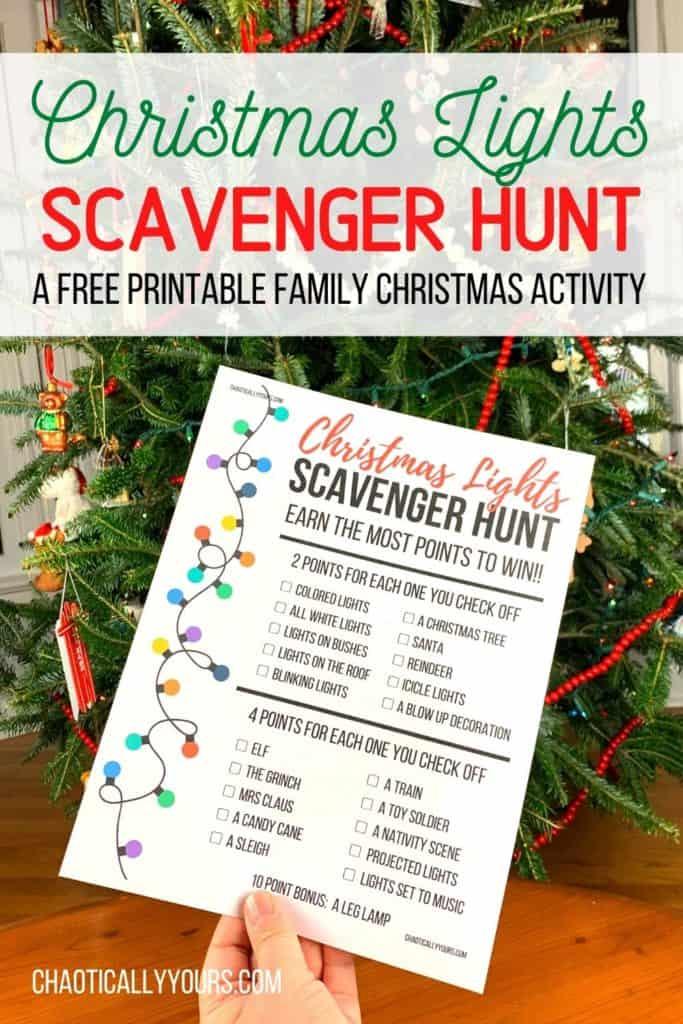 Christmas Lights Scavenger Hunt pin image