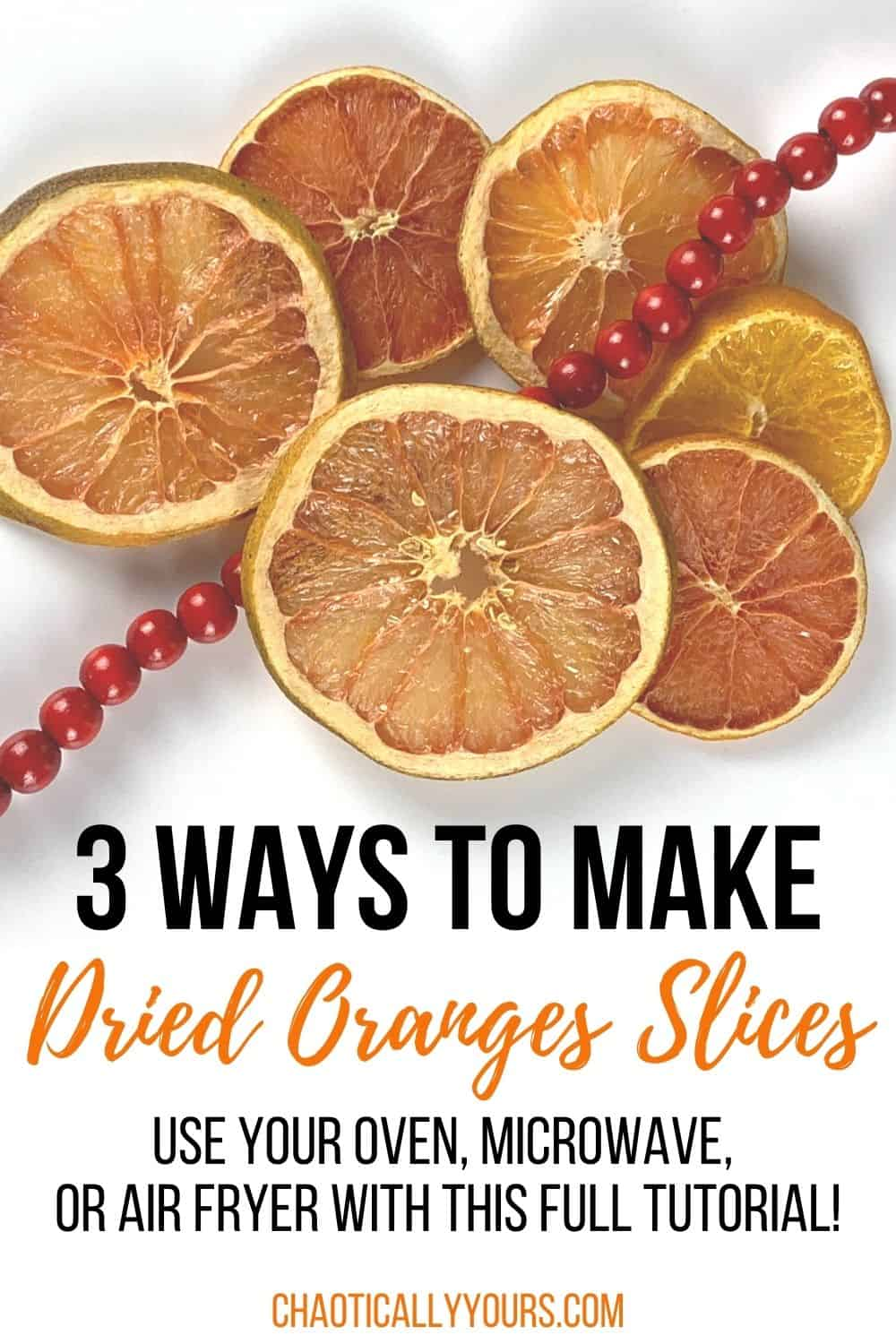 How to dry orange slices pin image