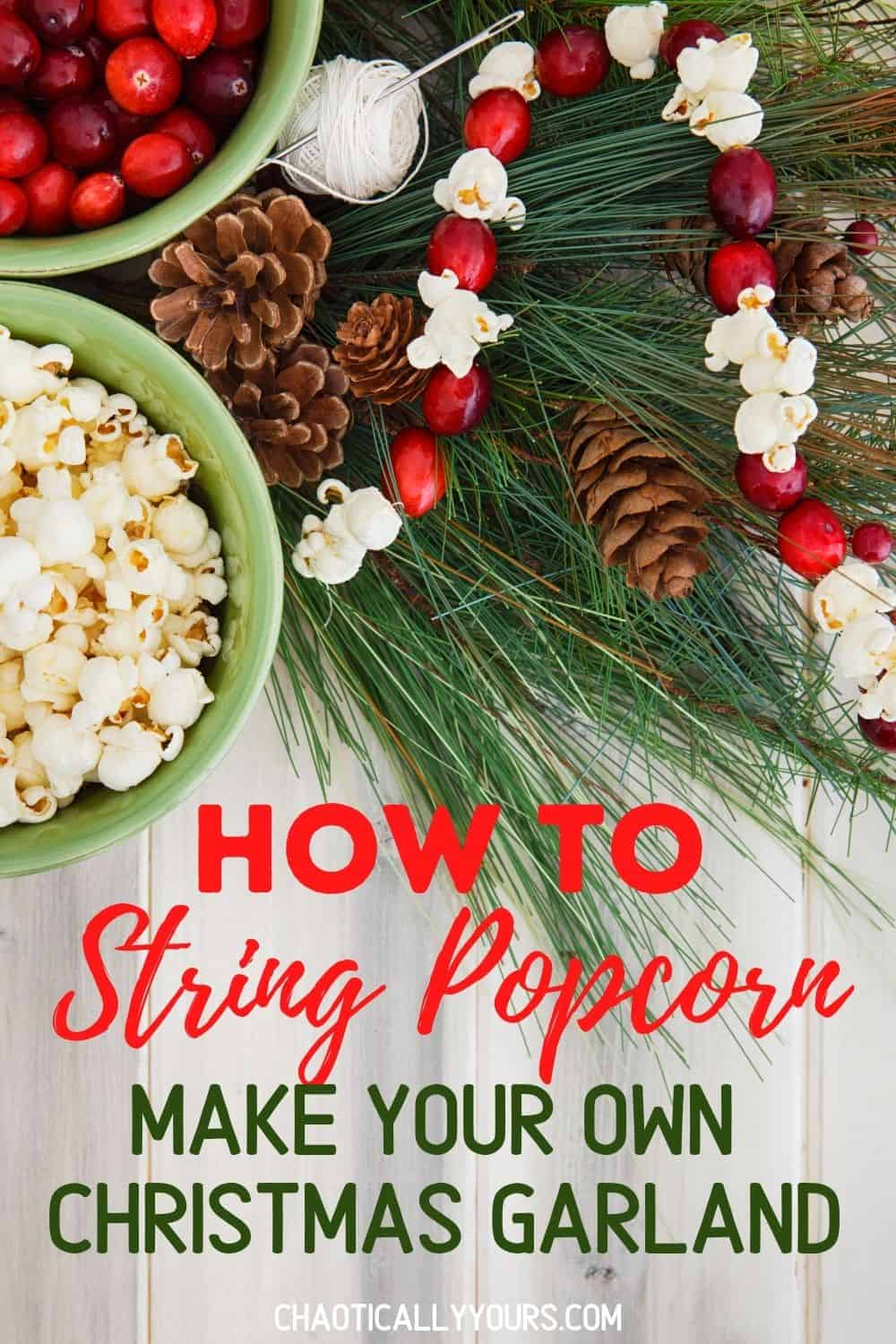 How To String Popcorn pin image