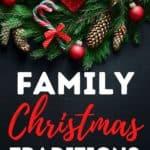 Family Christmas Traditions pin image