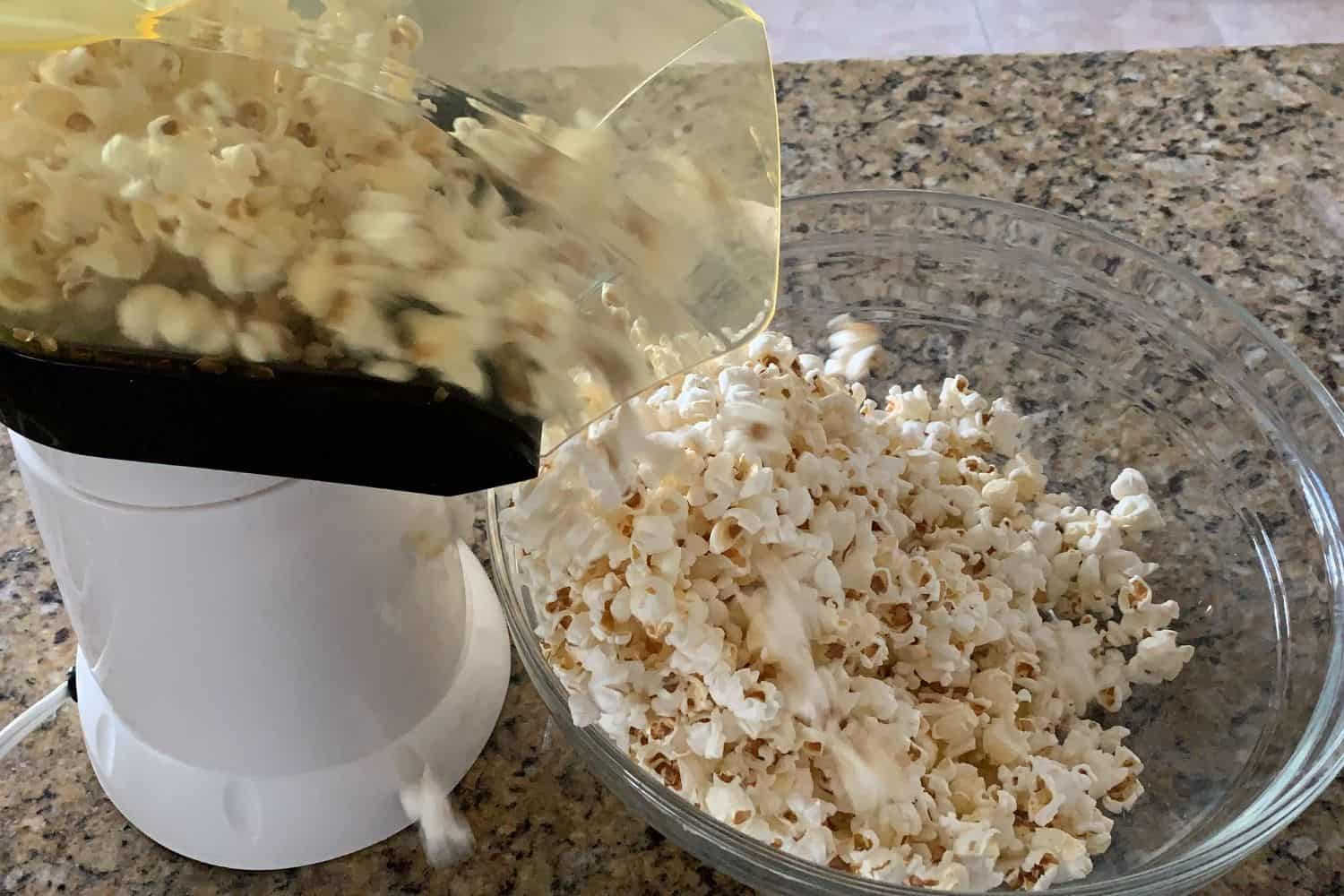 popping corn with an air popper
