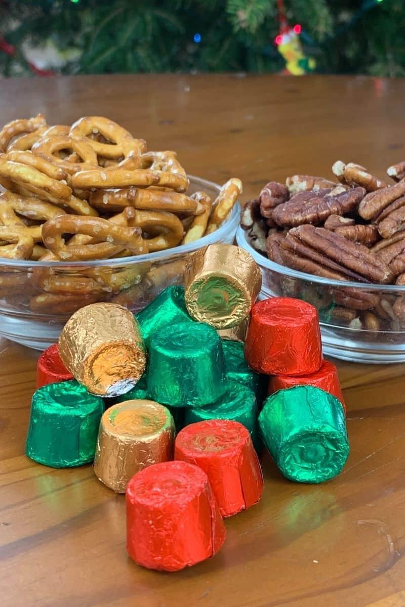 supplies for pretzel turtle treats