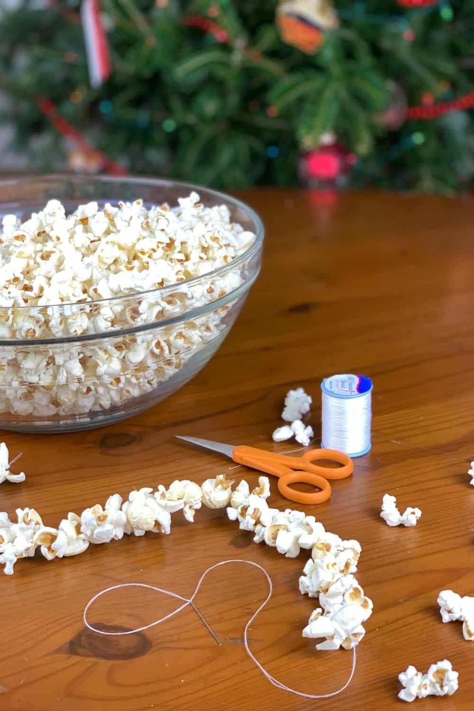 supplies to string popcorn