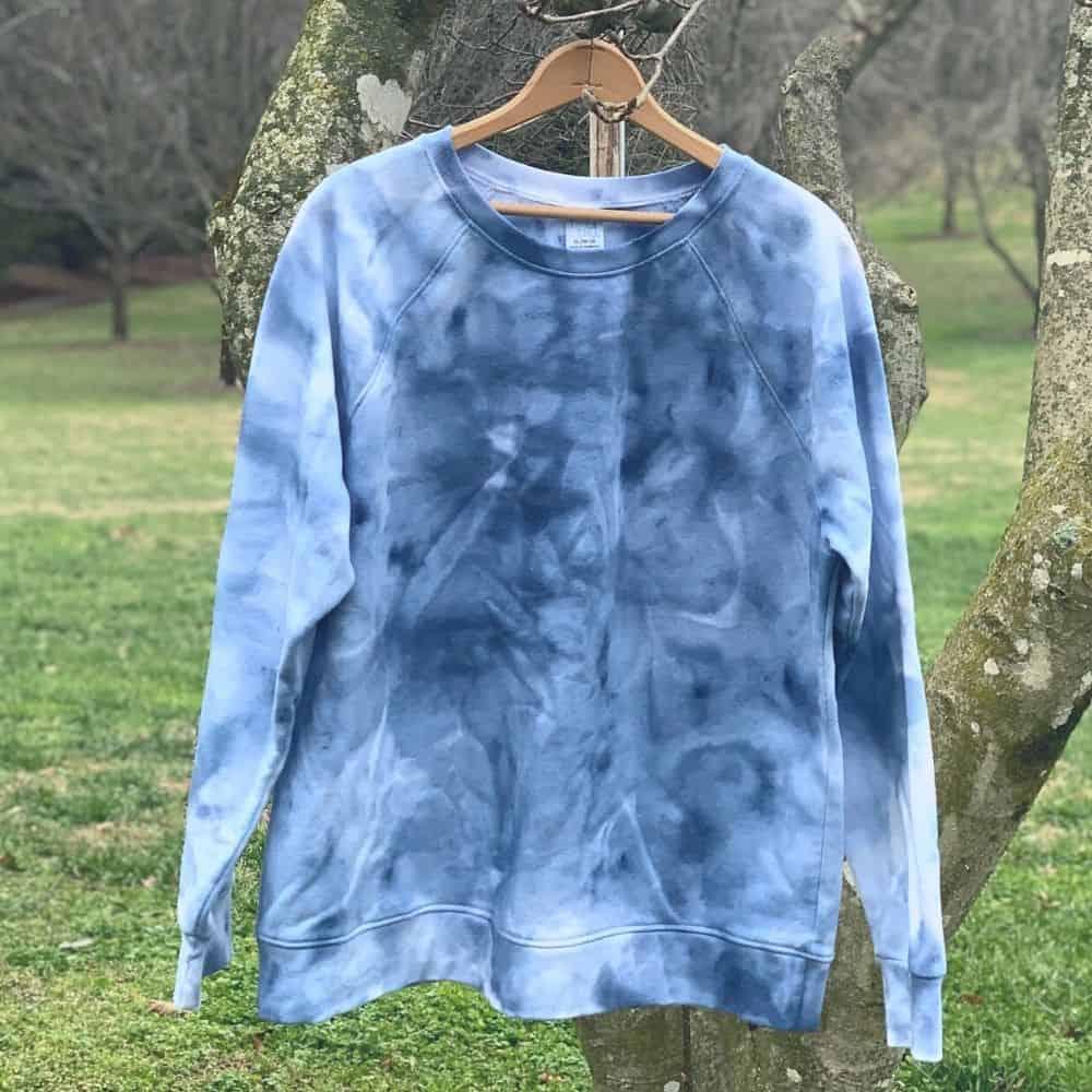 finished navy ice dyed shirt