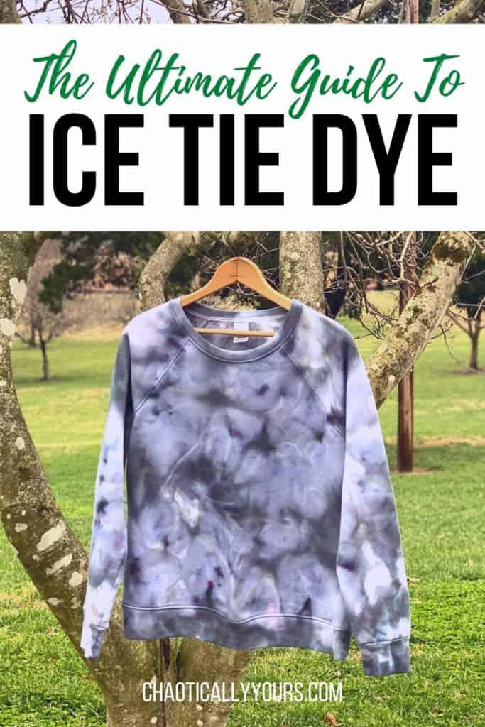 Ice tie dye pin image