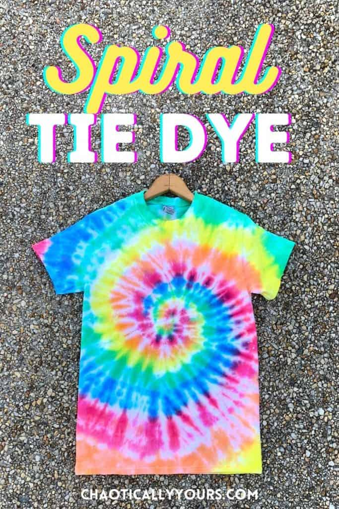 spiral tie dye pin image