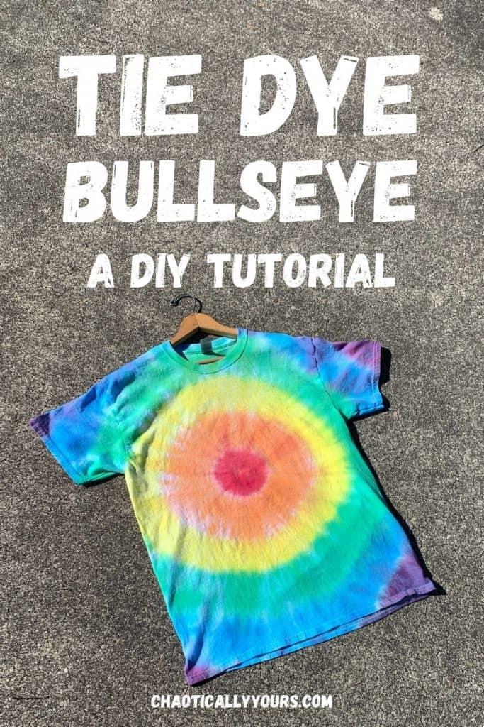 Tie Dye Bullseye Pin Image