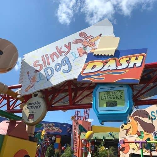 entrance to Slinky Dog Dash Rollercoaster