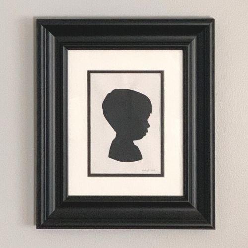 silhouette portrait of a boy