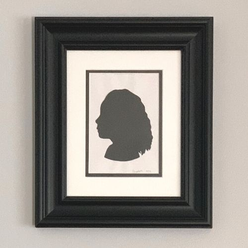 silhouette portrait of a girl