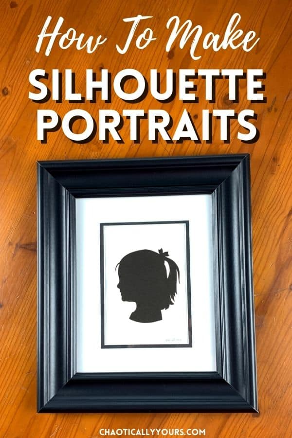 silhouette portraits pin image