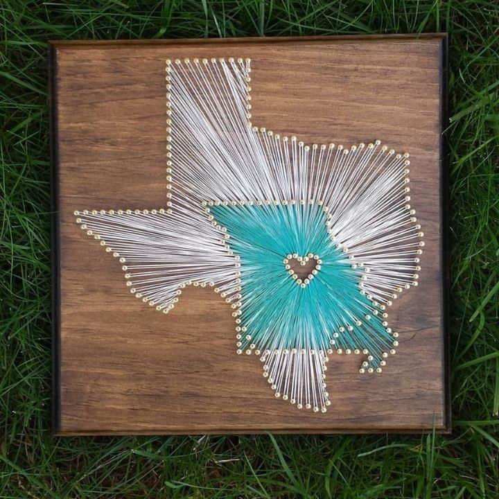 texas and louisiana string art
