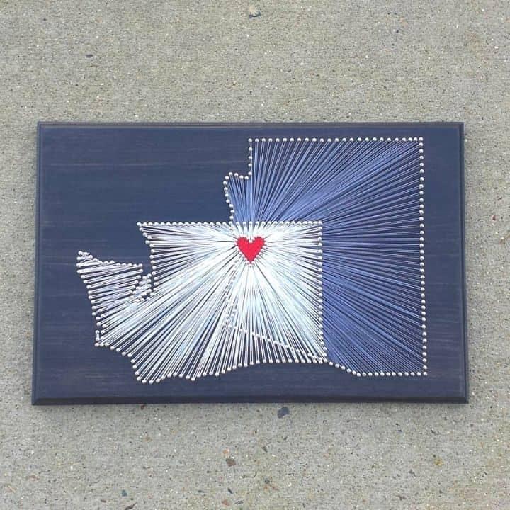 Washington and Arizona string art